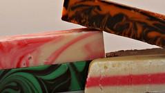 2018 Macro Mondays: Refreshments (dominotic) Tags: 2018 food fudge macromondays refreshments confectionery irishfudge manofaranfudge chocolateorange strawberriesandcream peppermintchocolatechip coconutice macro yᑌᗰᗰy sydney australia