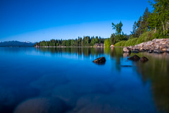 Lake Tahoe - morning California (Carandoom) Tags: 2018 summer california usa tahoe lake city long exposure morning water forest tree sony rx10 m4 calme nd filter mountain sky