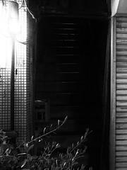 Street Fragments #376 - FUKUOKA Day and Night (Yoshi T. (kagirohi)) Tags: japan japanese blackwhite bw street streetphotograph streetphotography alley fragment urban city cityscape snapshot ricoh gr ricohgr 日本 福岡 白黒 モノクローム モノクロ 路上 ストリート ストリートフォト 都市 風景 都市風景 スナップ スナップ写真 リコー 断片 blackandwhite monochrome depthoffield fukuoka