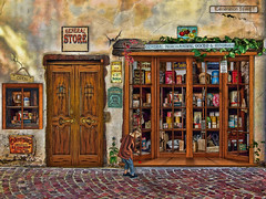 past times - general store (sw2018) Tags: old art shop street wall door