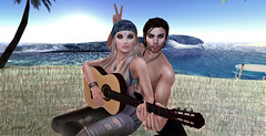 no.match_ contest , Just1sarah (Just1sarah) Tags: nomatch secondlife pose photography contest guitar beach couple