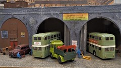 Underneath The Arches. (ManOfYorkshire) Tags: samuels coaches bus coach operator diorama underneaththearches southyorkshire transport museum openday rotherham aldwarke road 176 scale oo gauge breakdown truck
