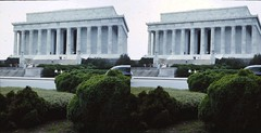 Batch D 0196 (dizzygum) Tags: vintage 3d stereo slide image 1958 washington dc lincoln memorial