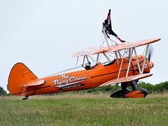 N74189 (2) (goweravig) Tags: n74189 swanseaairport wnas18 visiting aircraft aerosuperbatics wingwalkers biplane sawnsae wales uk