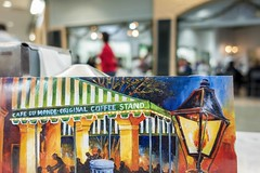 Cafe Du Monde card on table (Victor Wong (sfe-co2)) Tags: art barista beignet blurred brasserie breakfast busy cafe du monde cajun chicory closeup coffee crowd cuisine culture customer defocused donut doughnut drink editorial european famous food france french quarter iconic illustration indoor interior leisure lifestyle louisiana new orleans old pastry people restaurant retail shop street sugar sweet table town traditional travel urban usa