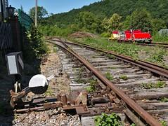 Tracks and more ..... (diarnst) Tags: schienen tracks altebahnstrecke weiche schwellen tretmobil holz technik