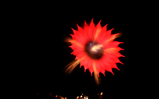 Defocused Fireworks Wallpaper