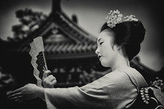 扇子の舞 (小川 Ogawasan) Tags: japan japon maiko dance tradition temple