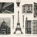 Cast - Iron Architecture (1894, a collection of iron made architectural designs, notably the Eiffel Tower. Digitally enhanced from our original plate. thumbnail