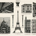 Cast - Iron Architecture (1894, a collection of iron made architectural designs, notably the Eiffel Tower. Digitally enhanced from our original plate.