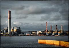 chimneys (kurtwolf303) Tags: chimneys schornsteine hafen harbour palermo sizilien sicily buildings gebäude industrie water wasser sky clouds himmel wolken nikon compactcamera nikoncoolpixs9900 kurtwolf303