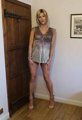 Short Dress / Long Top? (Juliette Noir) Tags: trans cd lgbt crossdresser transvestite transgender transformation dress short heels