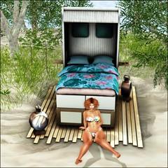 LOTD096 - Plenty Of Room On The Bed For More (misty.redyard) Tags: maitreya catwa wasabi elise misschelsea dreamlanddesignsultraevent avatar womensfashion femalefashion virtualrealityworld virtualworld secondlife firestorm slblogger blogging secondlifeblogger fashion events beach grass sand