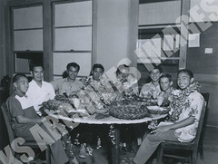 942- 5556 (Kamehameha Schools Archives) Tags: kamehameha archives ksg ksb ks oahu kapalama luryier pop diamond 1955 1956 most original lei day table