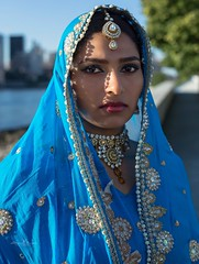 Indian (steveedreff) Tags: tradition traditional colors lips eyes indian india fashion model pretty beautiful girl female woman