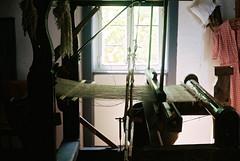 Old weaving loom (mkk707) Tags: film analog wwwmeinfilmlabde leicam3 leitzsummicronmi5cmcollapsible itsaleica leitzcamera kodakportra400 rangefinder vintagelens vintagefilmcamera germany