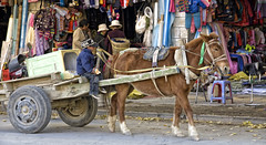 Busy day at the market (bag_lady) Tags: approved market bazaar gyantse tibet oldtown horseandcart street inthestreet streetphotography