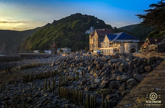 lynmouth uk early morning (kapper22) Tags: lynmouth north devon uk early morning sunrise coast hills landscape blue yellow green pebbles rocks