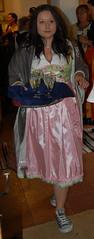 DSC_0189 (womaninskirt) Tags: ballerinas stockings skirt women costume dirndl apron