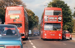 October 1986 Brixton Hill THX305S (togetherthroughlife) Tags: 1986 october brixtonhill 133 bus thx305s dms2305 b103wul m1103