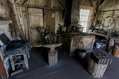 the blacksmith's shed (Super G) Tags: nikon311 wilderranch blacksmith 1800s anvil forge tools metal jig color 2018