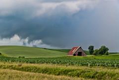 Stormy Weather (nikons4me) Tags: iowa ia storm stormy weather clouds barn field corn fence nikonafsdx18200mmf3556gifedvr nikond200 tamacounty
