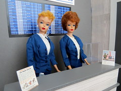 2 Good morning! (Foxy Belle) Tags: doll dollhouse miniature diorama airport work barbie uniform vintage gray american airlines business playscale ooak 16 scale 1960s