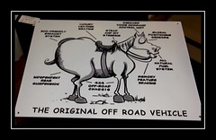 Off Roader (Audrey A Jackson) Tags: canon60d blackbrook antiquevillage sign comedy monochrome