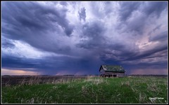 Storm coming (David Flather) Tags: storm prairie canada manitoba clouds sunset