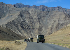 Mountain road in Ladakh, India (phuong.sg@gmail.com) Tags: advice altitude asia attraction brown car destination drive famous field force high highway hill himalaya india indian jammu kashmir ladakh landform landmark landscape leh mountain mountaineering natural nature outdoor range ridge road rough rugged rules safe scene scenic sign slowly structure tibet traffic travel valley way wonder