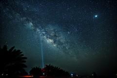Lets find a shooting star (Sanjiban2011) Tags: astrophotography milkyway stars nightphotography nightsky nightscape longexposure lightbeam silhouette nature outdoor abudhabi alrazeen uae nikon d750 tamron tamron1530 fullframe