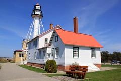 Lighthouse - Whitefish Point - 2018-05-29 (BillyGoat75) Tags: lighthouse whitefishpointlighthouse greatlakesshipwreckmuseum building lakesuperior thegreatlakes whitefishpoint michigan usa