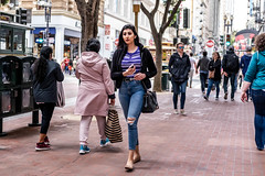 San Francisco 2018 (burnt dirt) Tags: sanfrancisco california vacation town city street road sidewalk crossing streetcar cablecar tree building store restaurant people person girl woman man couple group lovers friends family holdinghands candid documentary streetphotography turnaround portrait fujifilm xt1 color laugh smile young old asian latina white european europe korean chinese thai dress skirt denim shorts boots heels leather tights leggings yogapants shorthair longhair cellphone glasses sunglasses blonde brunette redhead tattoo pretty beautiful selfie fashion japanese tight purple stripes hole
