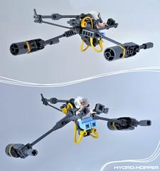 Hydro-Hopper (Inthert) Tags: engine smoke ship space skimmer hopper hydro speeder sea ocean technique lego bubble pilot