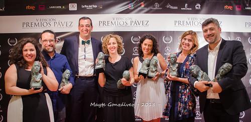 """Jaime Martín, director comercial de Mercedes-Benz Autasa, Patrocinador Oficial, junto al equipo del cortometraje """"Cerdita"""""""