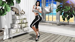 Bonjour Bitches! (Bryan Trend) Tags: catwa catya maitreya sintiklia hair clef de peau skin kustom 9 event hilly haalan darkfire tshirt leggings moda platforms westside bento poses equal10 female woman new post model blogger blog sl second life