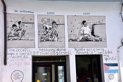 Mural at Orgosolo (MarkusR.) Tags: mrieder markusrieder nikon d7200 nikond7200 vacation urlaub fotoreise phototrip italy2018 italy 2018 italien sardinia sardinien kurzurlaub shortbreak insel island europa europe orgosolo nuoro murales murals wandbilder history geschichte paintings bilder town city stadt dorf gaza