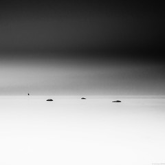 fishing zone (andreasbrink) Tags: landscape oeland summer sweden bw longexposure minimal moon exhibition