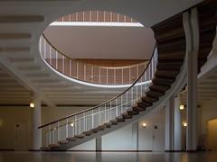 From the ground (Elbmaedchen) Tags: stairs staircase stairwell treppenhaus stufen wendeltreppe architektur architecture interior aarhus rathaus escaliers escaleras roundandround upstairs