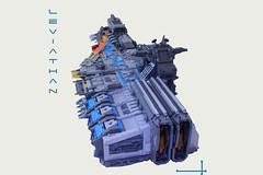 Leviathan (I Scream Clone) Tags: lego sbs sydlug leviathan scifi ship space