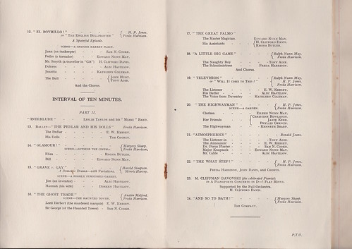 1929: Jan Programme 3