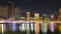 Baltimore, MD Inner Harbor (army.arch) Tags: baltimore maryland md downtown innerharbor water harbor skyline night city photography