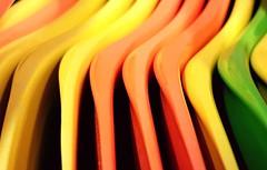Cuillères colorées en plastique (Christian Chene Tahiti) Tags: samsung s7e téléphone mobile faaa tahiti spoon cuillère enfant petit tiny plastique plastic couleur orange ombre shadow shape forme rouge vert jaune multicolore macro closeup macromondays hmm 7dwf