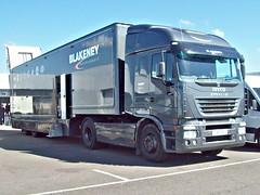 286 Iveco Stralis Racecar Transporter (2014) - Blakeney Motorsports (robertknight16) Tags: iveco italian 2010s stralis truck lorry transporter vscc silverstone xo35 blakeney
