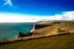 Awesome place ... (Julie Greg) Tags: durdledoor england landscape colours canon5dmarkiv soft nature sea rock seascape sky
