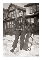 Fashion 0440-14 (Steve Given) Tags: socialhistory familyhistory fashion teen teenager snow sled