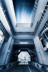 Démesure (Stéphane Sélo Photographies) Tags: architecture architectureetbatiments france lyon pentax pentaxk3ii rhône sigma1020f456 blending creative fenêtre perspective photographie window