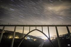 Puente de Ponte Ulla en Vedra (albertoleiras) Tags: canon6d canon1740f4l ferrocarril puenteulla vedra ponte galicia acoruña nocturna circumpolar startrails landscape