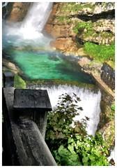 Rail and emerald (aiva.) Tags: slovenia slovenija waterfall savica river landscape naturepark