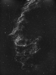 Eastern Veil Nebula (David's Adventures) Tags: astrophotography easternveilnebula nebula haonly astrophysics 1100gto asi1600mm tec140 blackandwhite stars night sky dark
